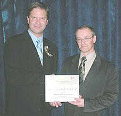 Prix de la MRC pour Roger Bélanger de Déco Romax, Québec