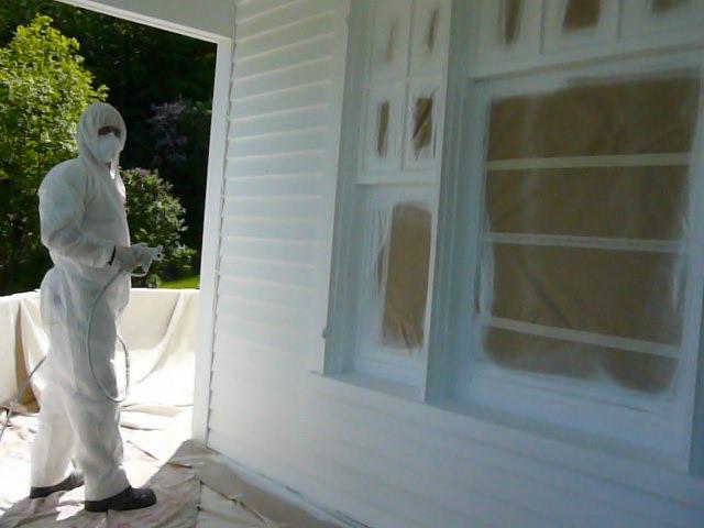 entrepreneur peinture ext rieure spray peinture au pulv risateur. Black Bedroom Furniture Sets. Home Design Ideas