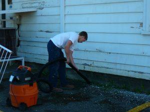 Nettoyage avec aspirateur
