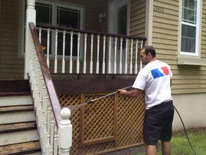 Nettoyage de patio