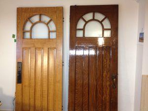 Imitation de bois sur porte- Lévis