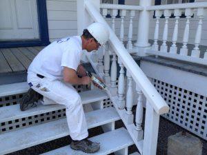 Calfeutrage extérieur sur garde-corps