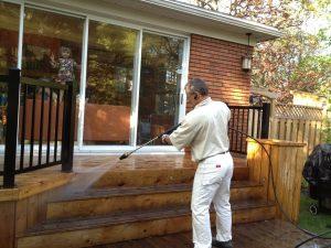 Nettoyage et rinçage au jet d'eau - Patio