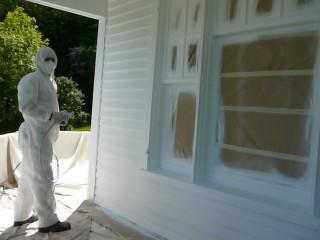 Entrepreneur peinture exterieur spray