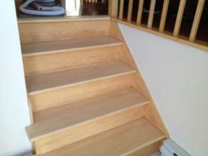 Escalier Vernis