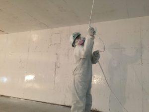 Peinture intérieure commerciale au vaporisateur - Combinaison de sécurité