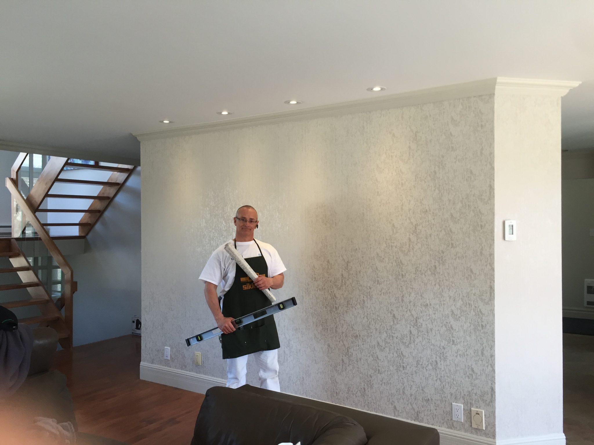 Poseur installateur de papier peint murale et poster g ant au qu bec Pose papier peint