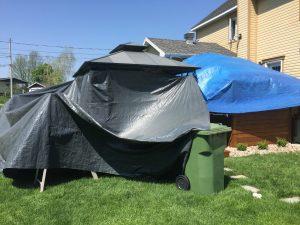 Toile protectrice contre le soleil - Teinture de terrasse