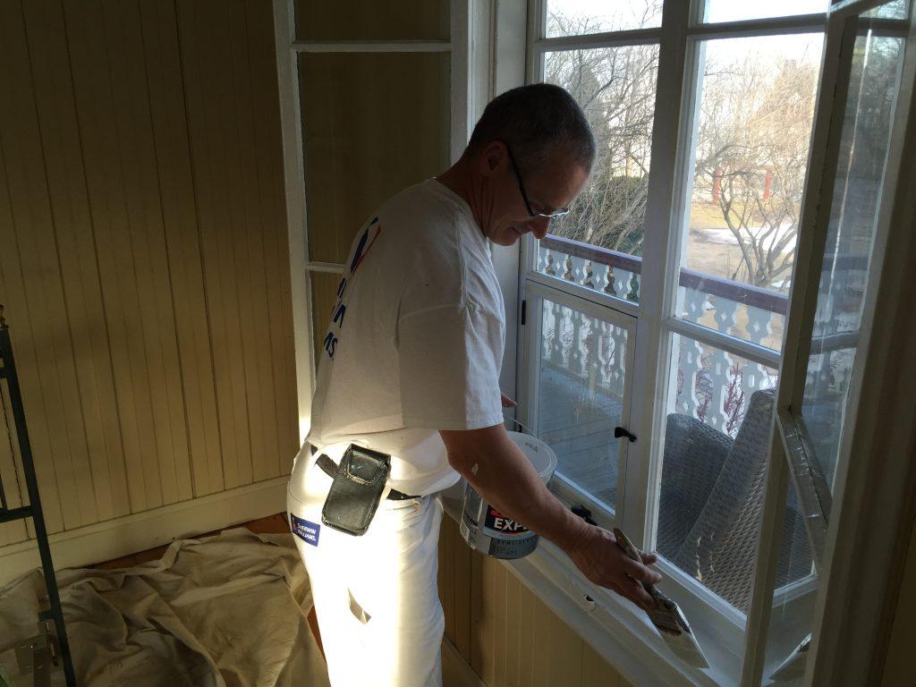 Peinture Semis Lustré Sur Fenêtre Intérieur