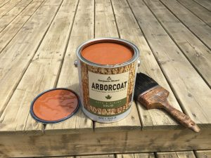 Peinture de qualité pour terrasse- Arborcoat