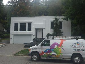 Entrepreneur en peinture enduit acrylique Québec