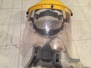 Masque et visière de protection pour décapage