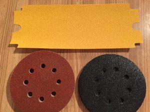 Papier abrasif pour décapage et sablage