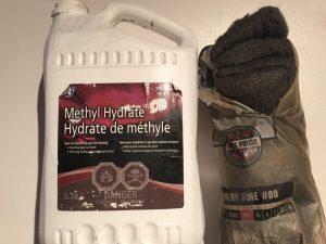 Hydrate de méthyle et laine d'acier neutralisant après le décapage chimique