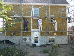 Peinture extérieure sur maison - Teinture cabot