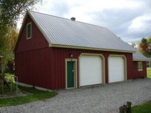 teinture garage de maison en bois