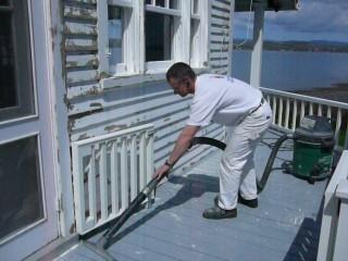 aspirateur nettoyage avant peinture fusil