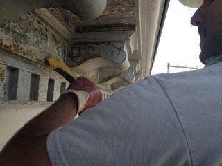 decapage mecanique sur corniche