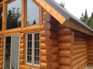 decapage teinture de maison en bois