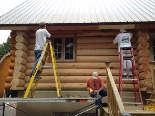 escabeau decapage maison bois