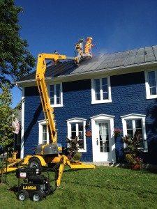 lavage haute pression toiture