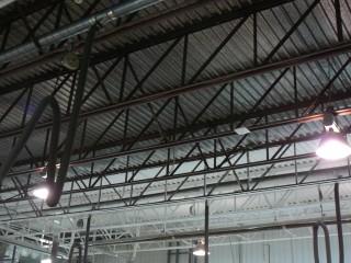 peinture plafond structure acier