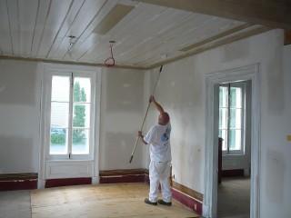 planification peinture interieure commerciale