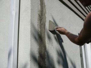 reparation fissure mur crepi fondation