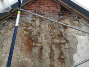restauration facade de brique et crepi
