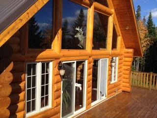 teinture maison en bois rond