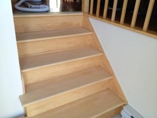 Vernis sur escalier